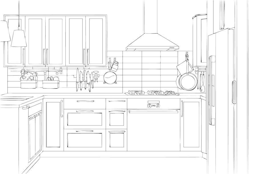 Kuchyňské linky do tvaru U